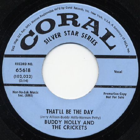 Image result for song that'll be the day buddy holly